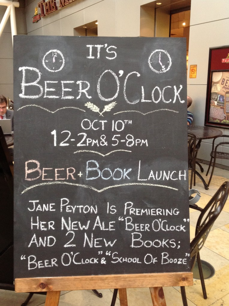 Book launch welcome sign